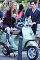 blake lively penn badgley vespa riders for gossip girl 09