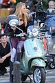 blake lively penn badgley vespa riders for gossip girl 17