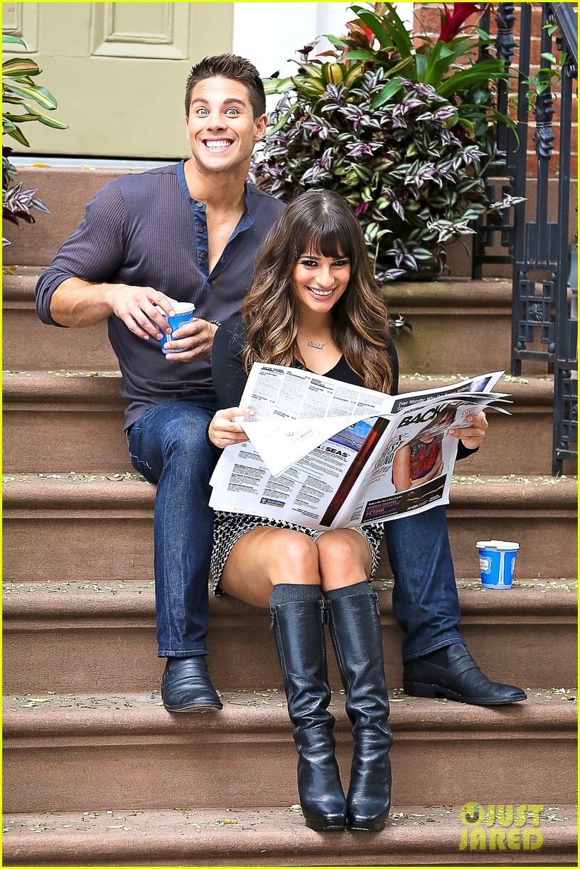 lea michele glee day with dean geyer 21