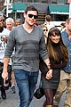lea michele cory monteith holding hands on glee set 09