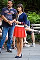 lea michele cory monteith holding hands on glee set 19