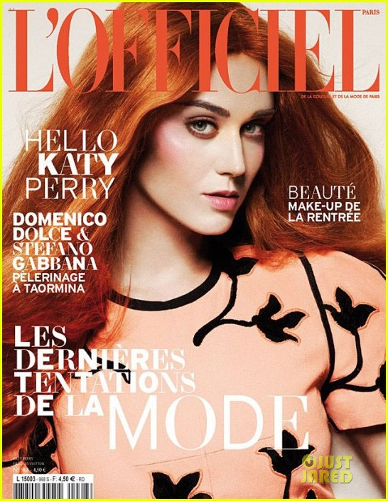 katy perry red hair for lofficiel magazine 022709895