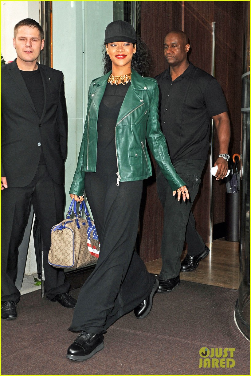 rihanna hotel departure london 02