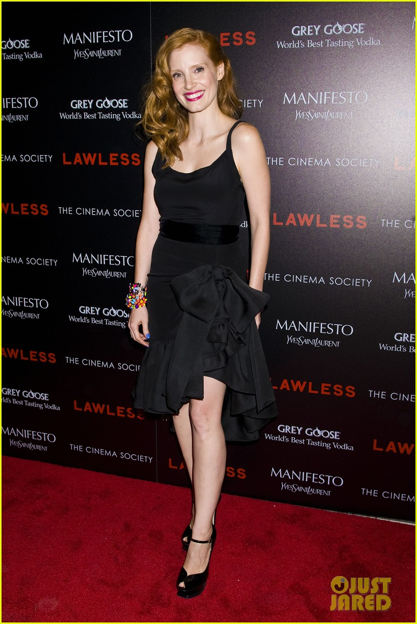 jessica chastain shia labeouf lawless nyc 09