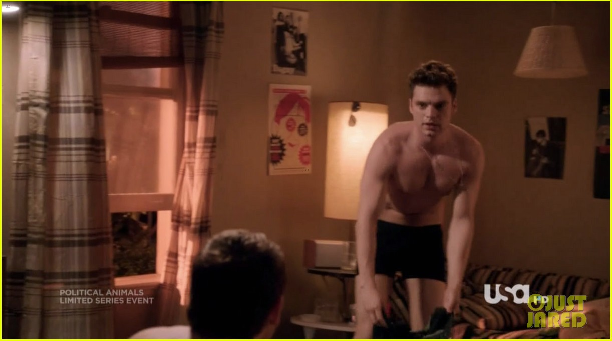 sebastian stan shirtless for political animals 18