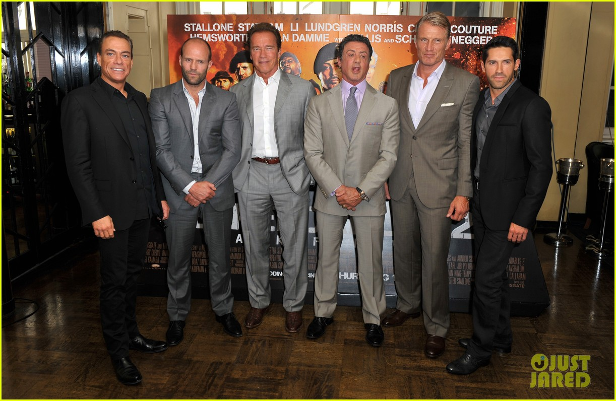 schwarzenegger stallone statham expendables 2 london photo call 052701310