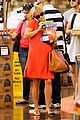 reese witherspoon red dress baby bump 19