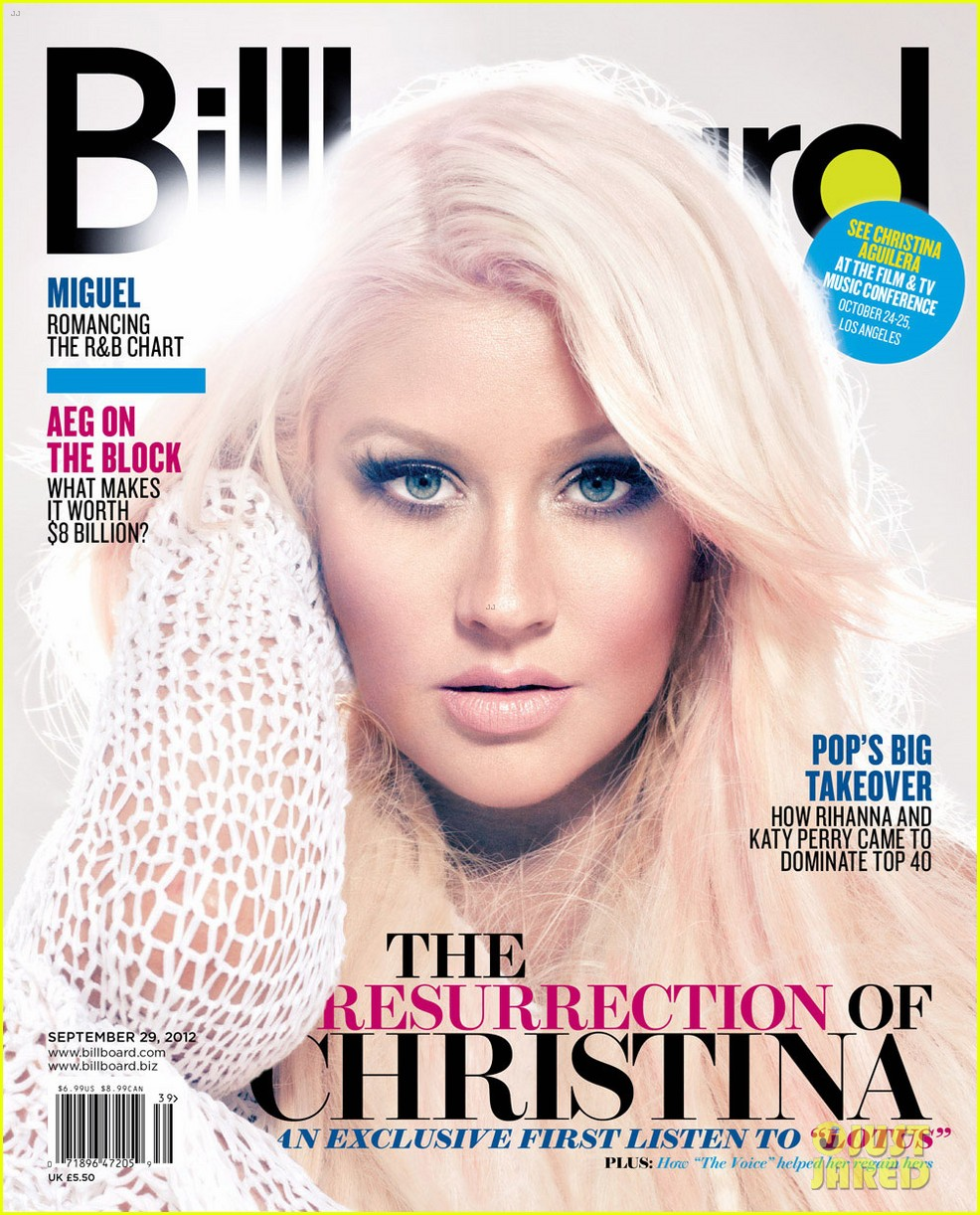 christina aguilera covers billboard magazine