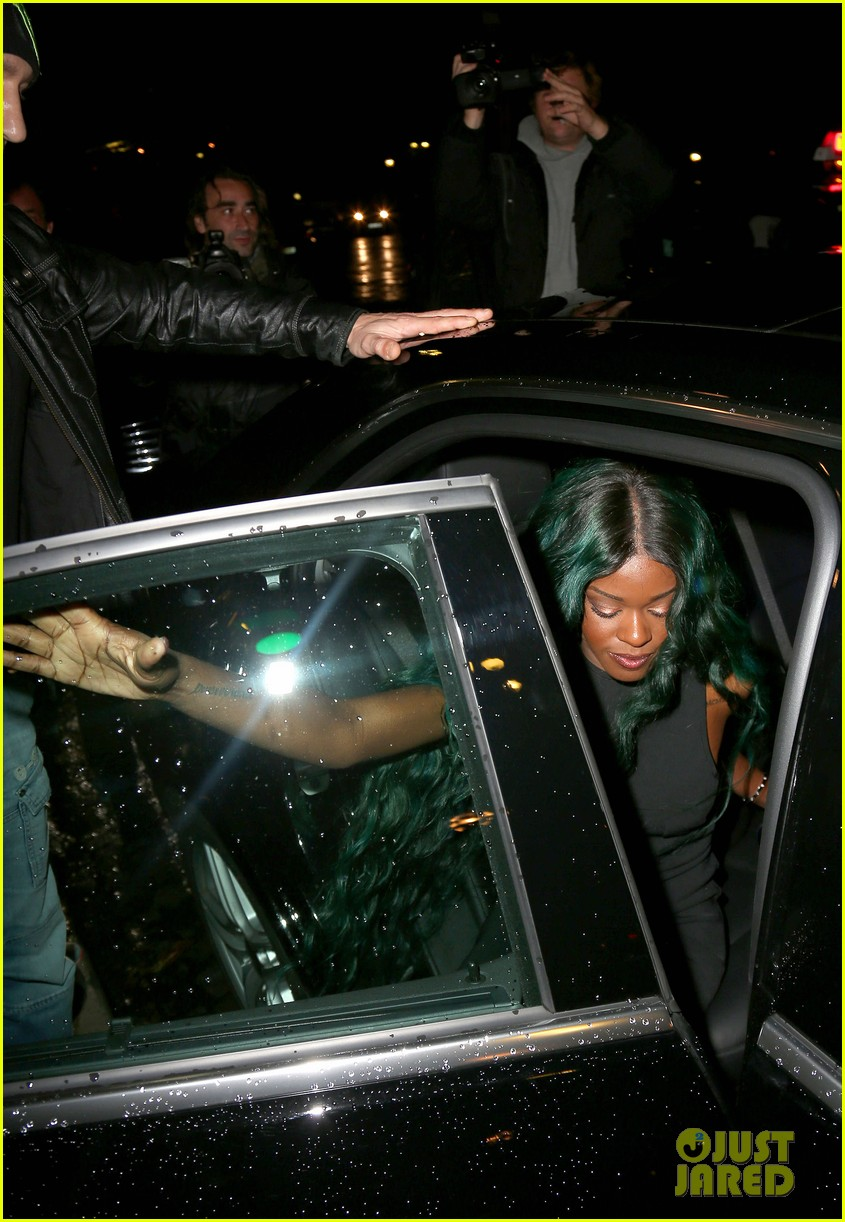 azealia banks green hair at thierry mugler show 062729019