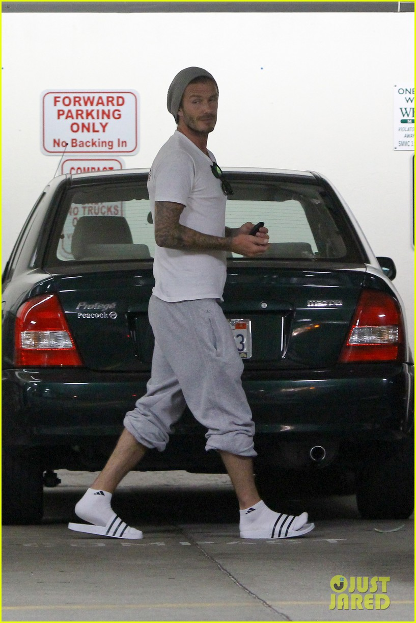 david beckham injures ankle on romeos 10th birthday 052713369