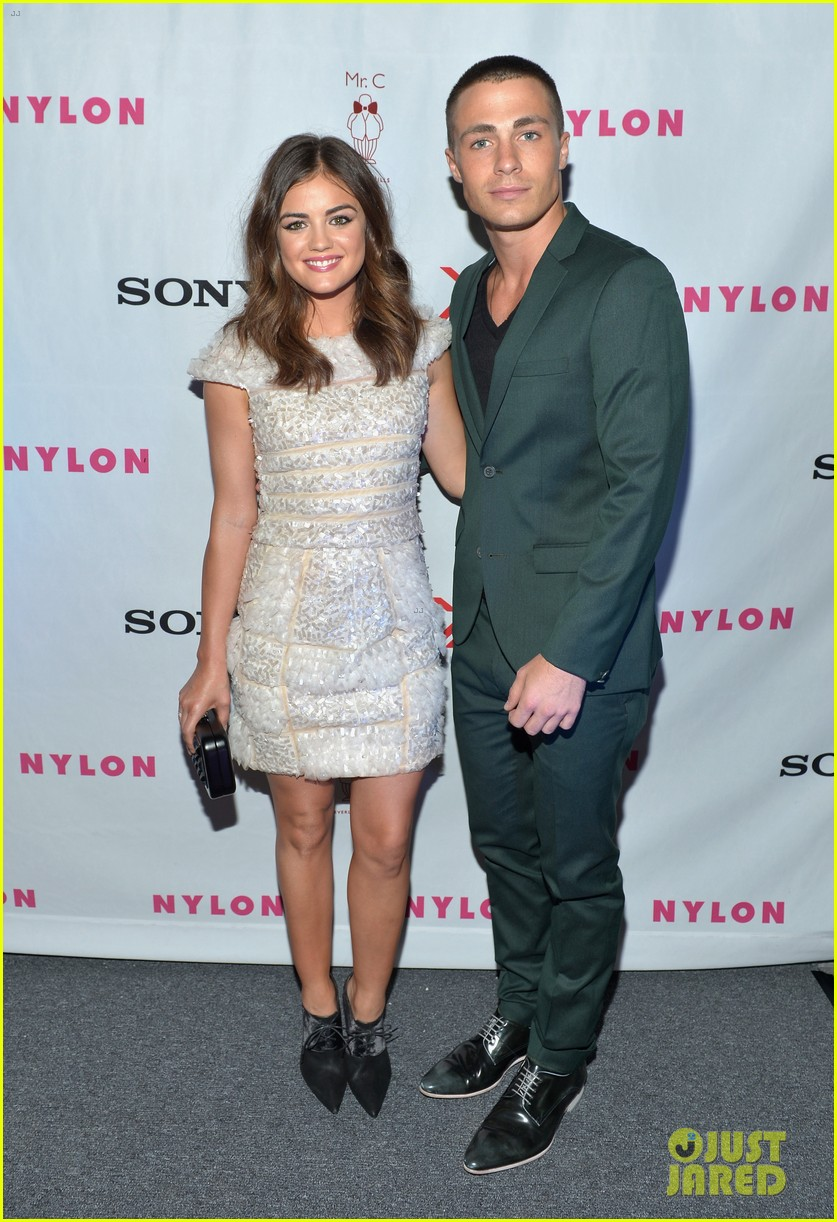 alexis bledel lucy hale nylon tv issue launch party 03