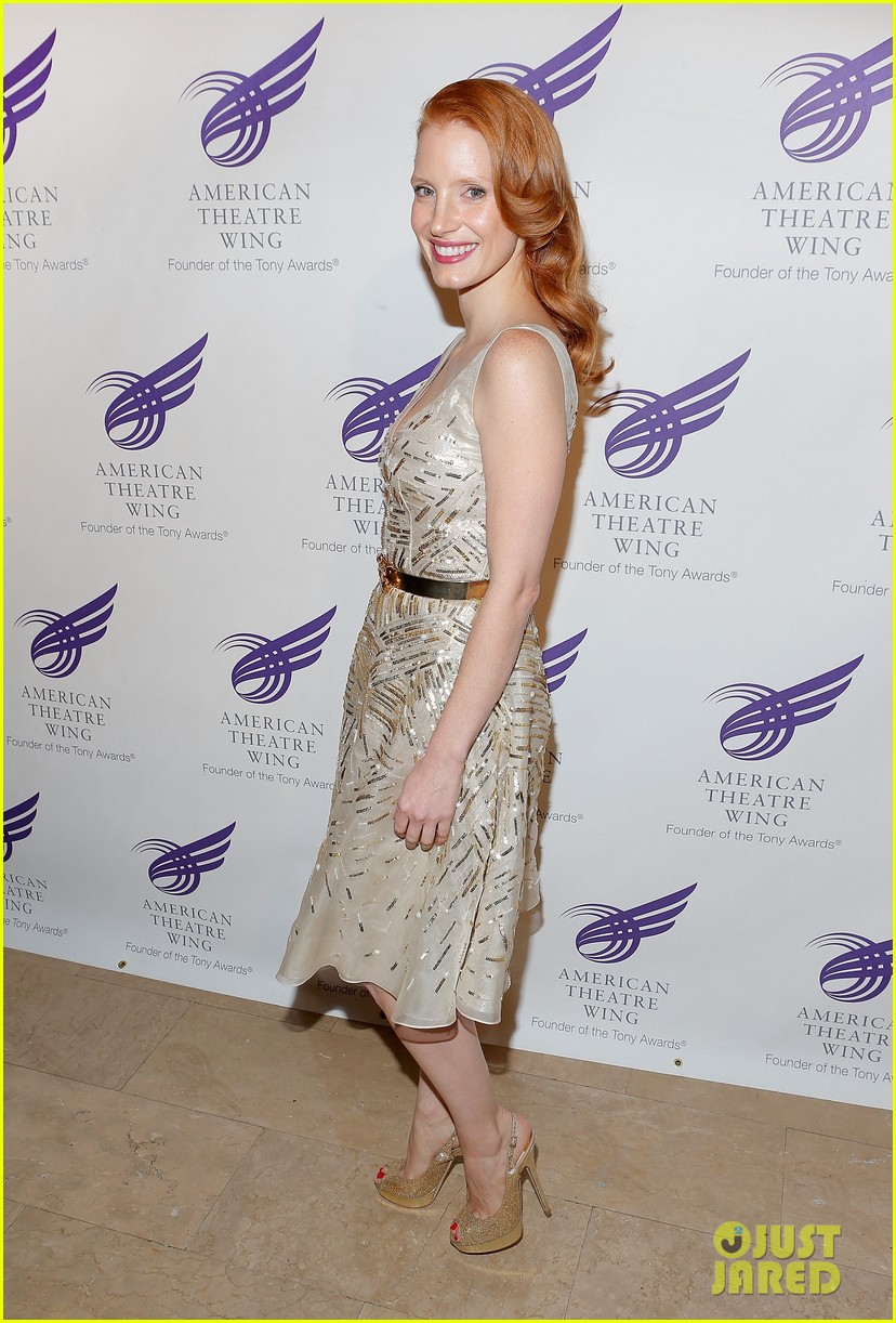 jessica chastain american theater wing gala 06