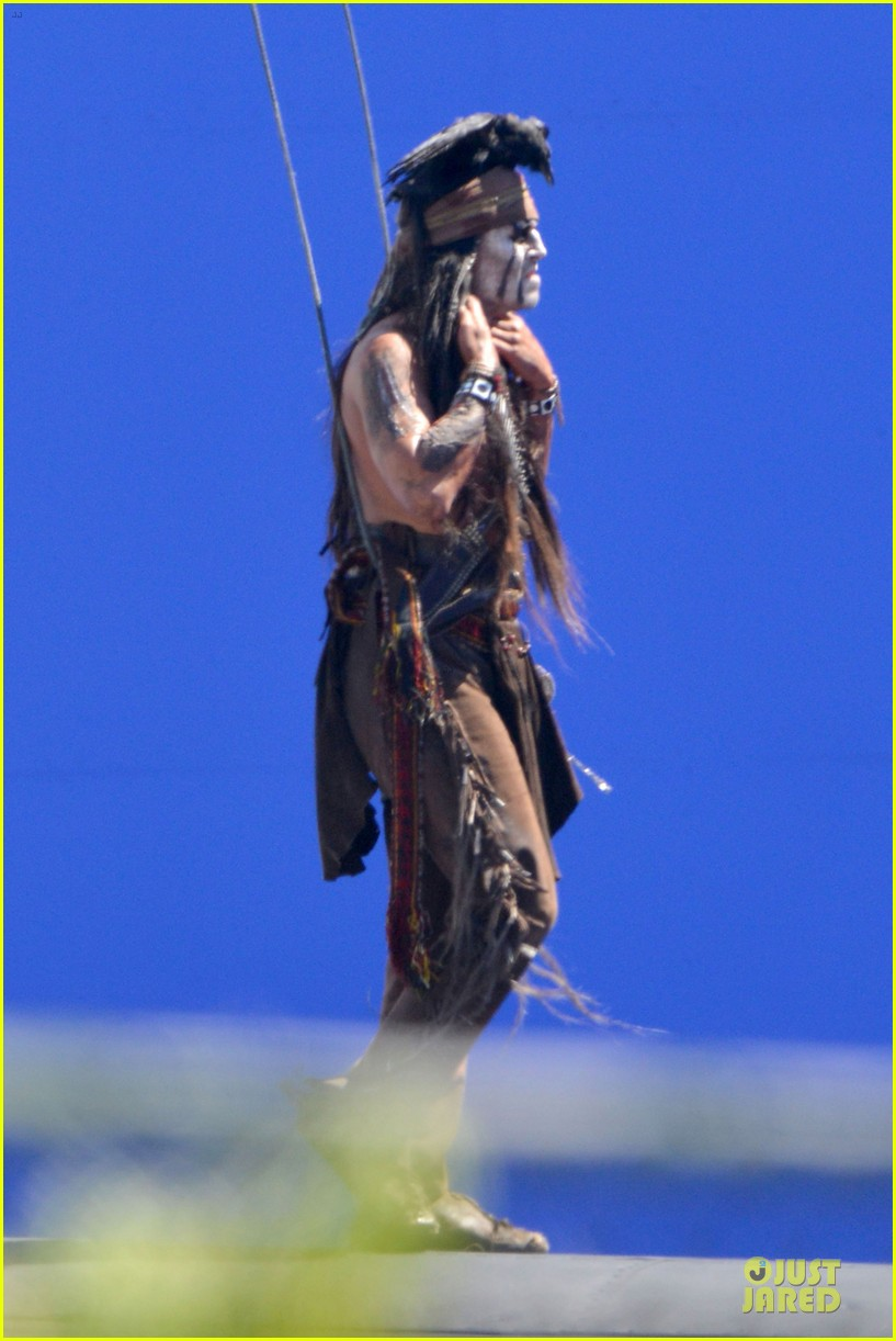 johnny depp lone ranger set 01