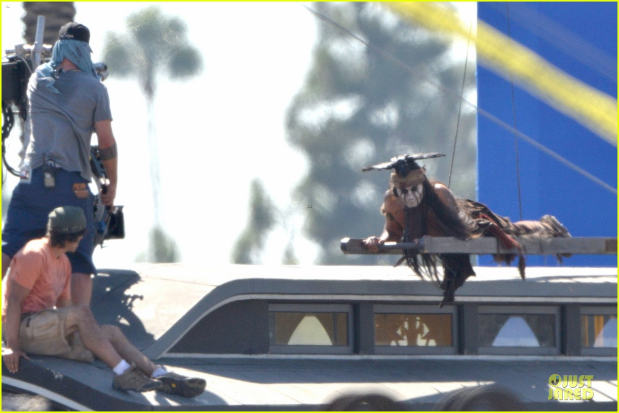 johnny depp lone ranger set 09
