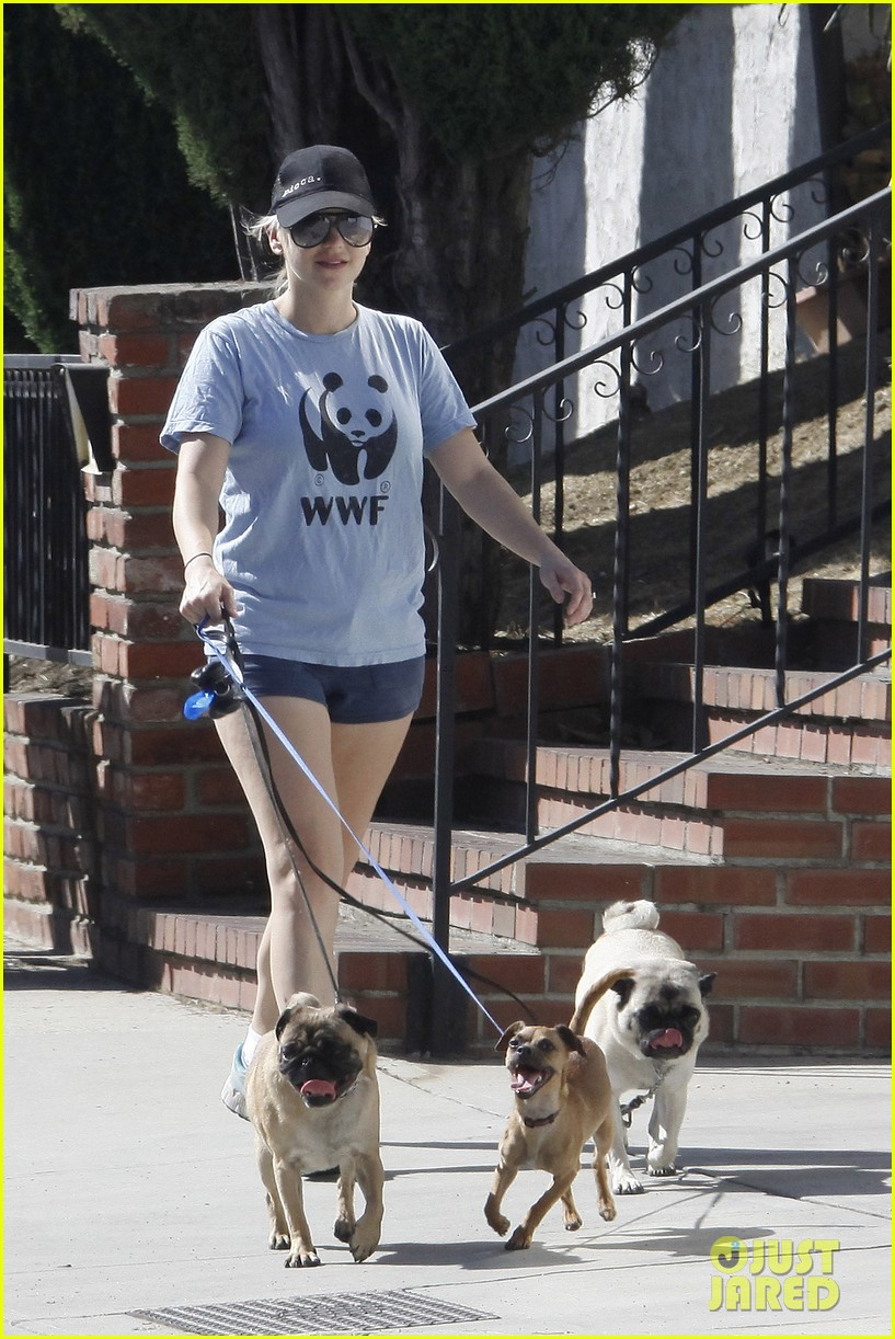 anna faris chris pratt strolling with baby jack 192730477