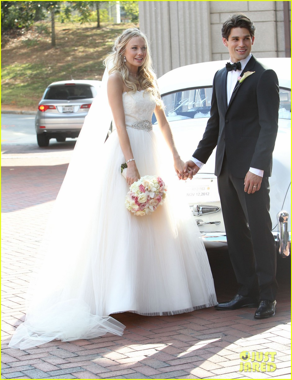 justin gaston weds melissa ordway first wedding pictures 15