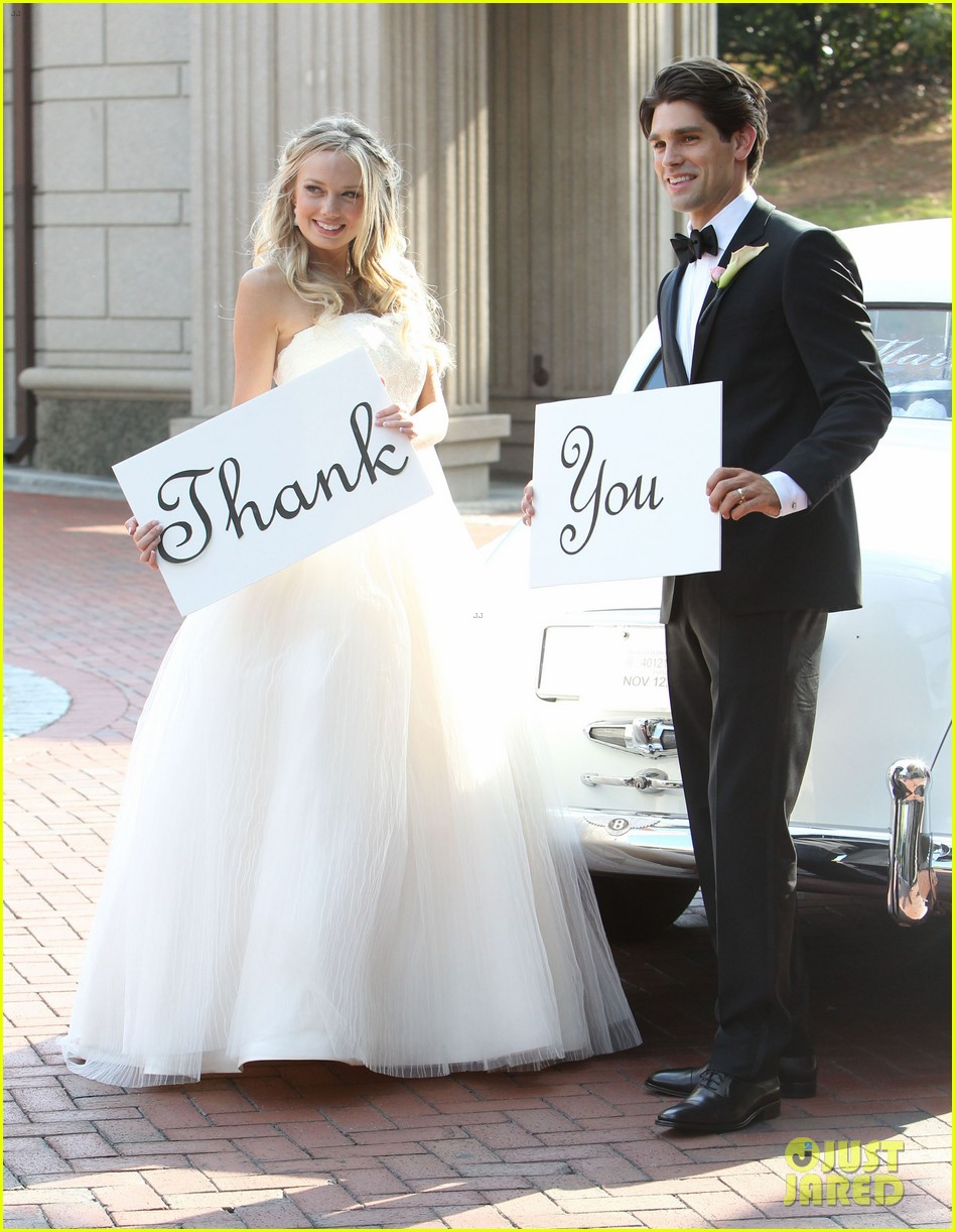 justin gaston weds melissa ordway first wedding pictures 16