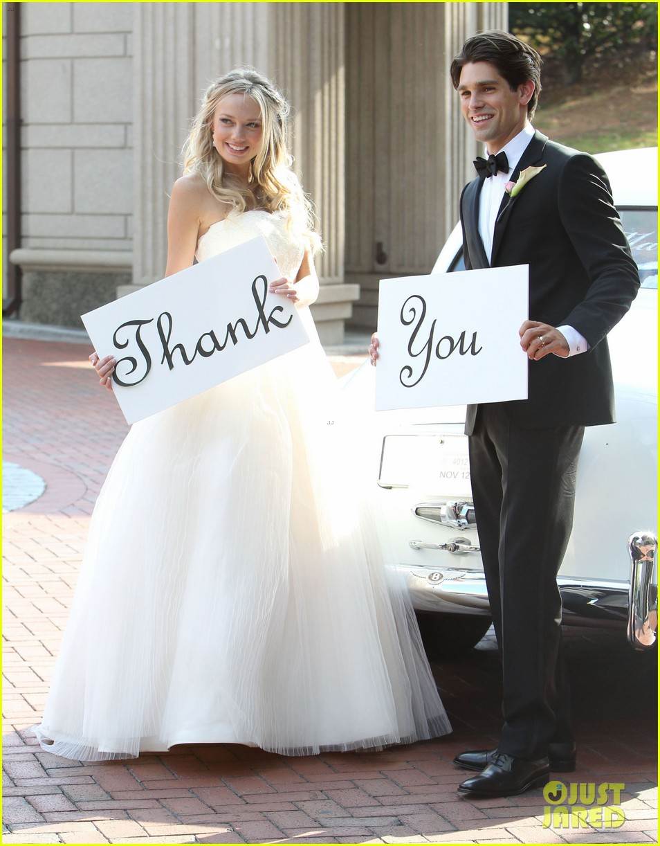 justin gaston weds melissa ordway first wedding pictures 17