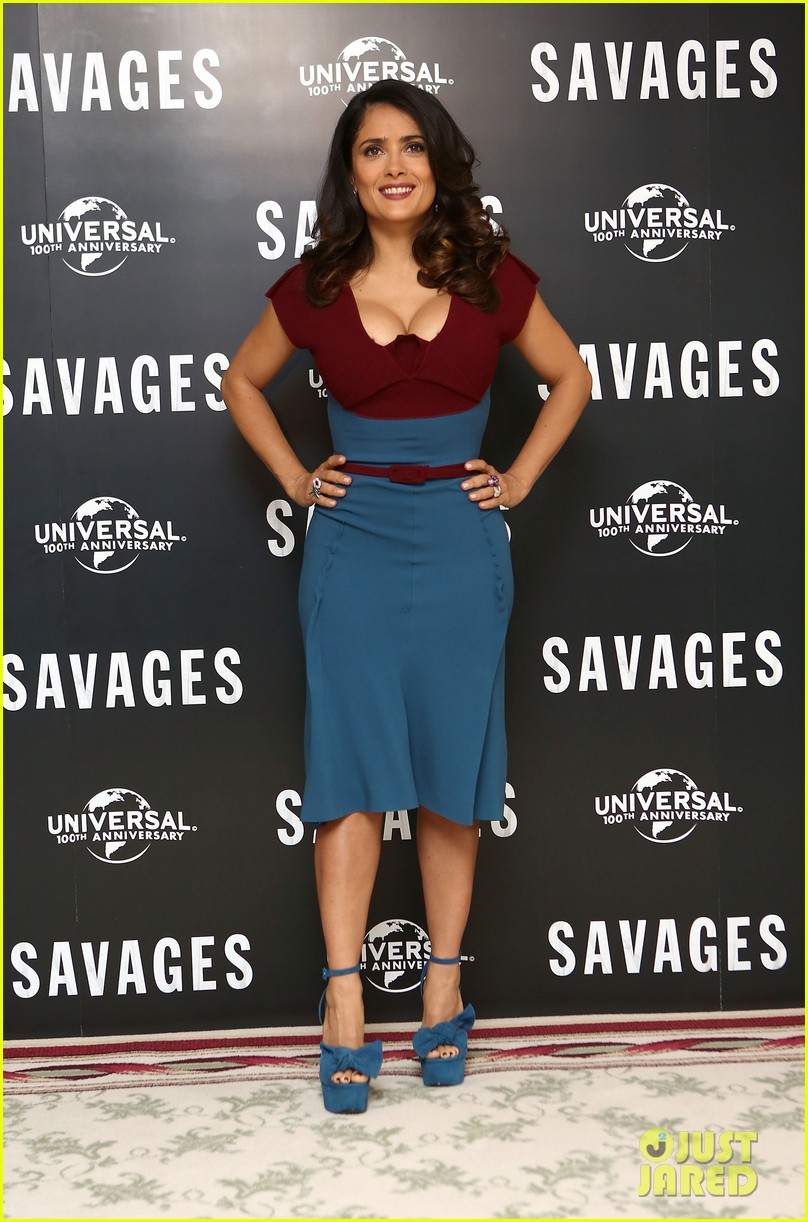 salma hayek savages photo call london 11