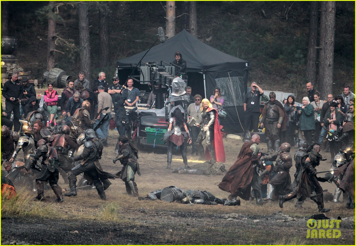 chris hemsworth thor 2 begins filming first set pics 30