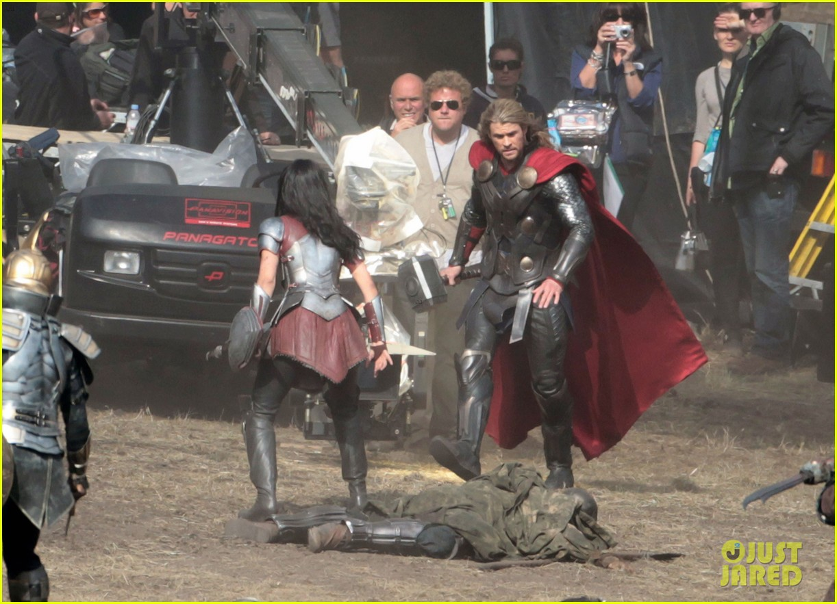 chris hemsworth thor 2 begins filming first set pics 312719400