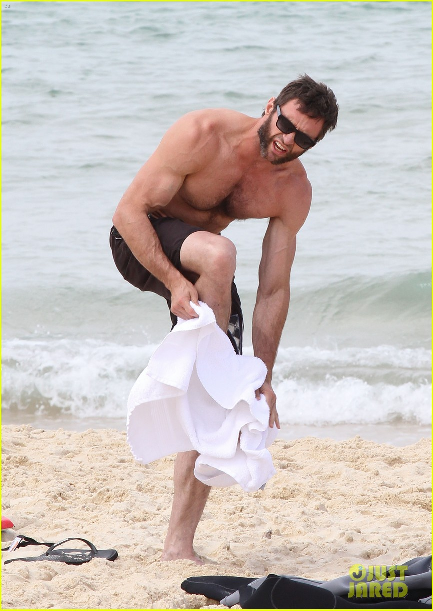 hugh jackman shirtless sydney stud 09
