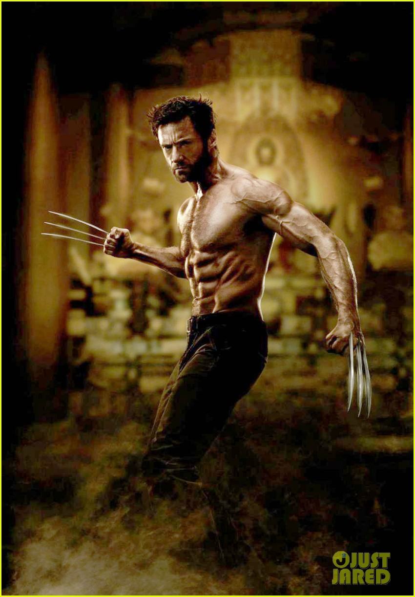 hugh jackman shirtless in first the wolverine still