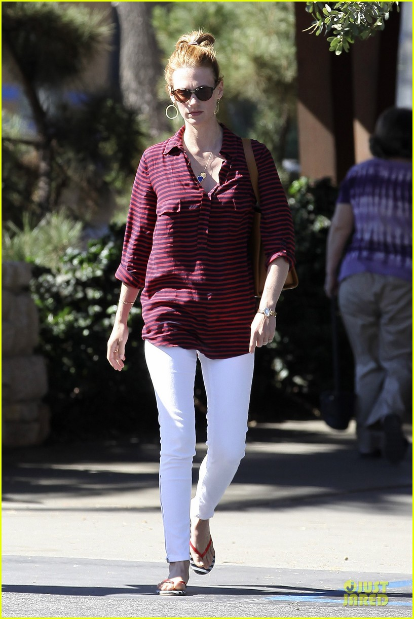 january jones striped pasadena 01