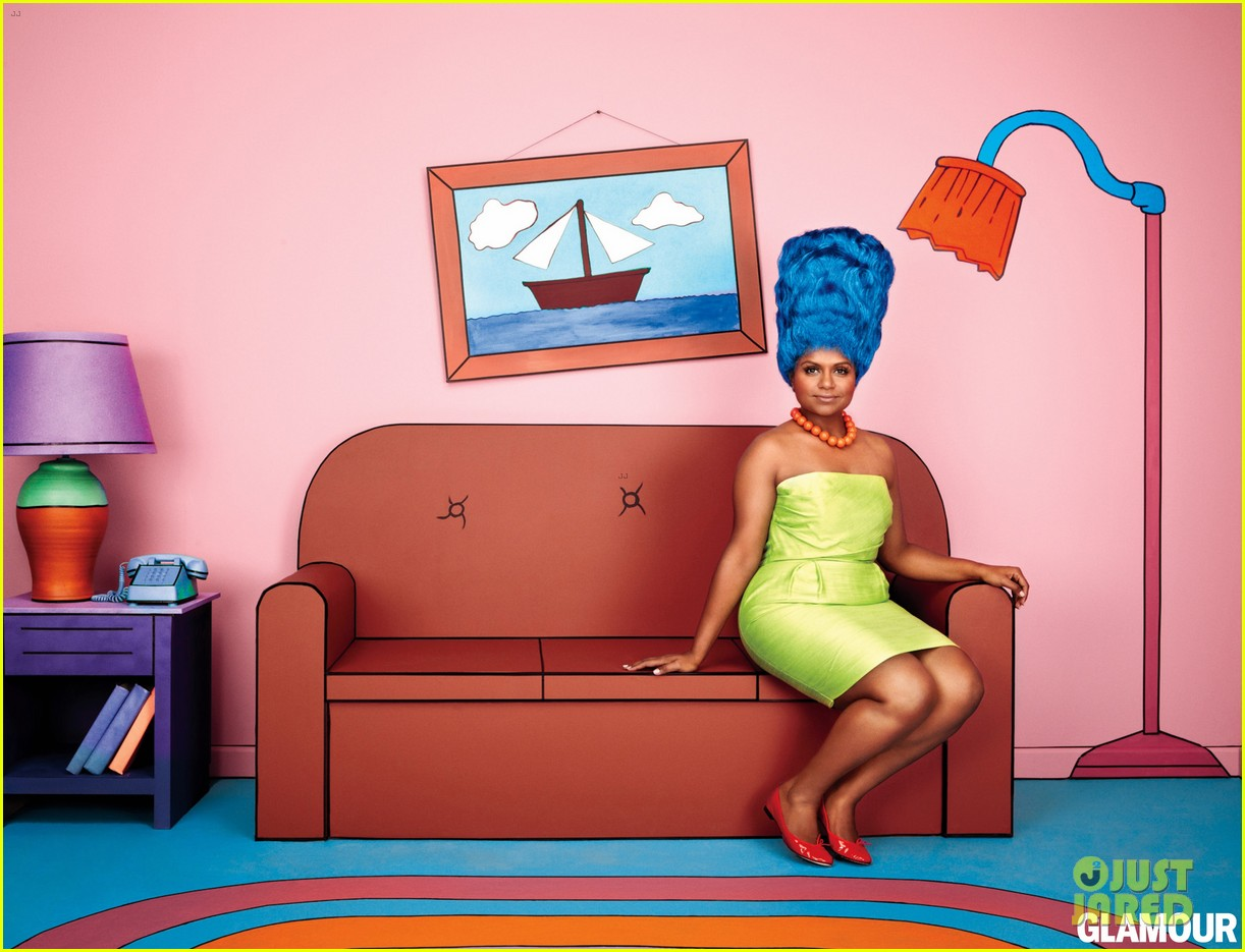 mindy kaling marge simpson for glamour magazine 012724363