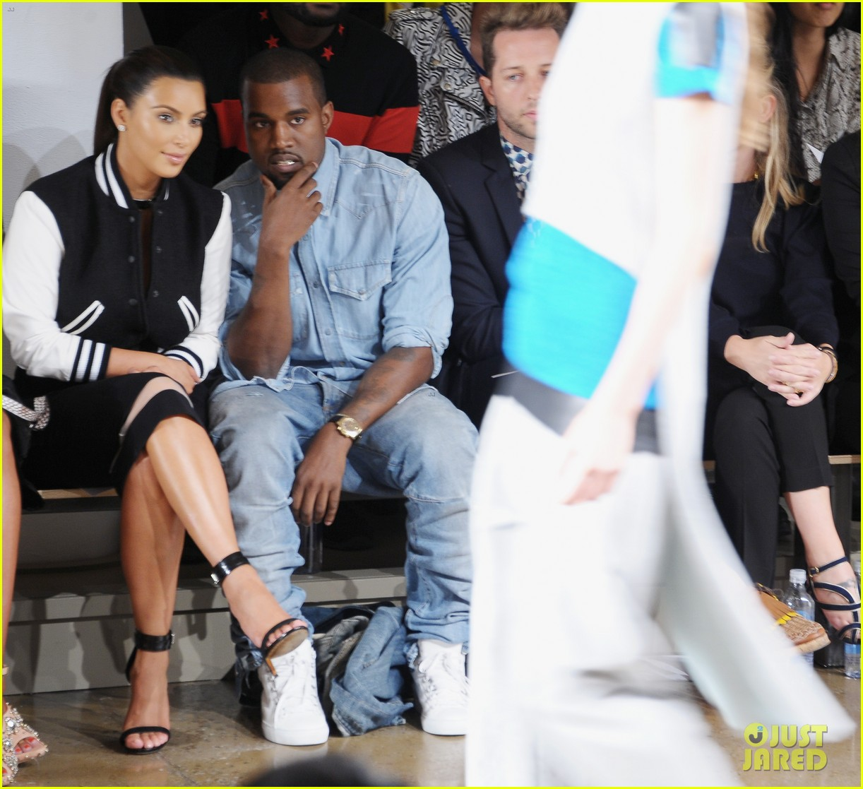 kim kardashian kanye west louise goldin fashion show 11