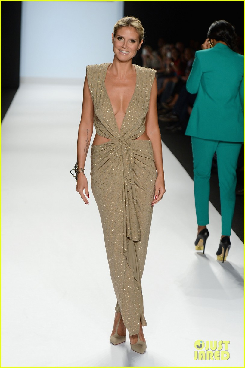 Full sized photo of heidi klum jennifer hudson project for Runway fashion show video