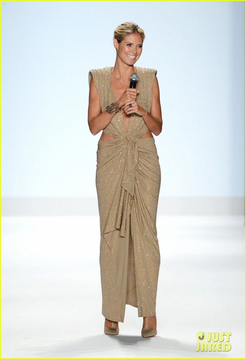 heidi klum jennifer hudson project runway fashion week 10