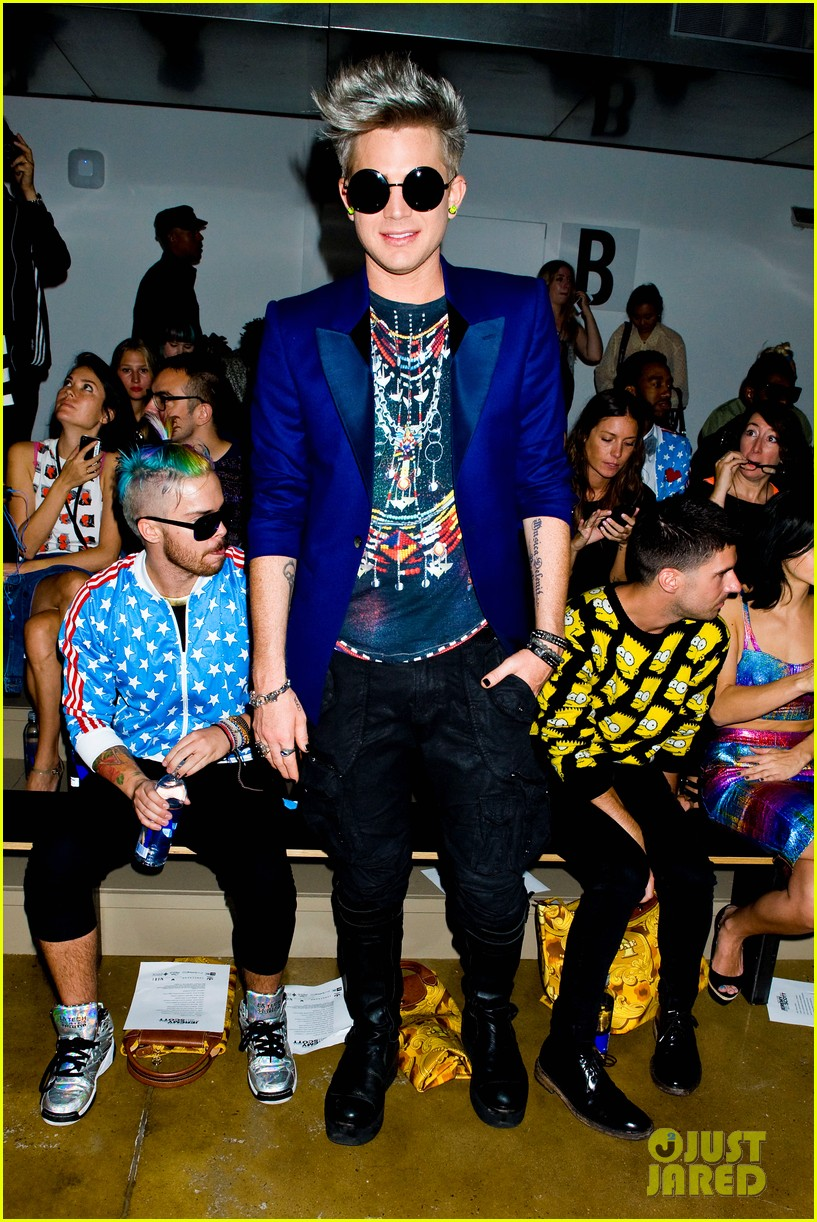 adam lambert ryan lochte jeremy scott show 12