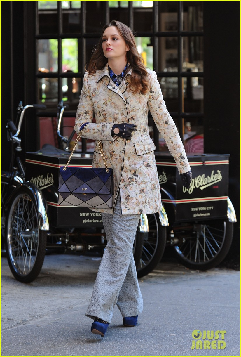 leighton meester chace crawford gossip girl filming 07