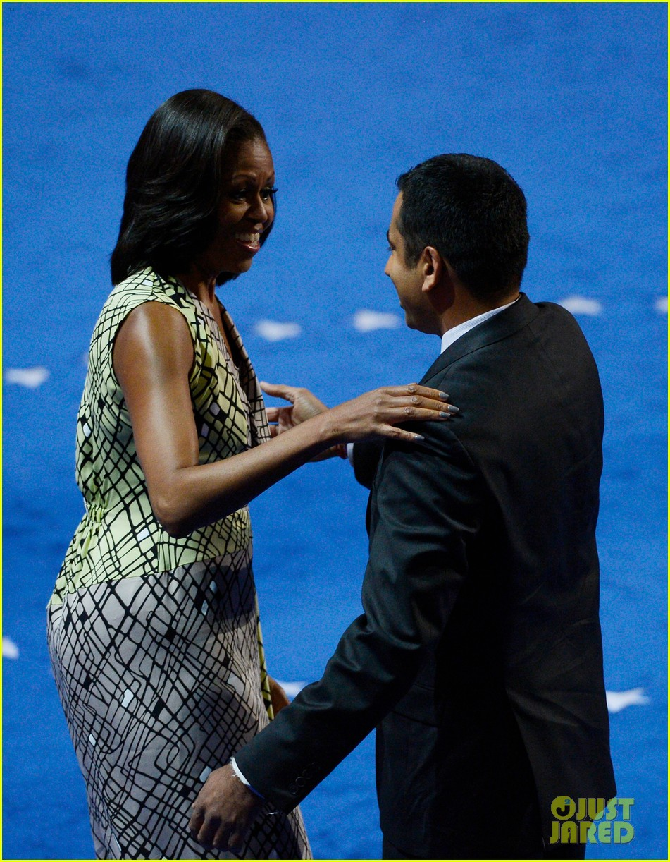 michelle obama preps democratic national convention in charlotte kal penn 032713542