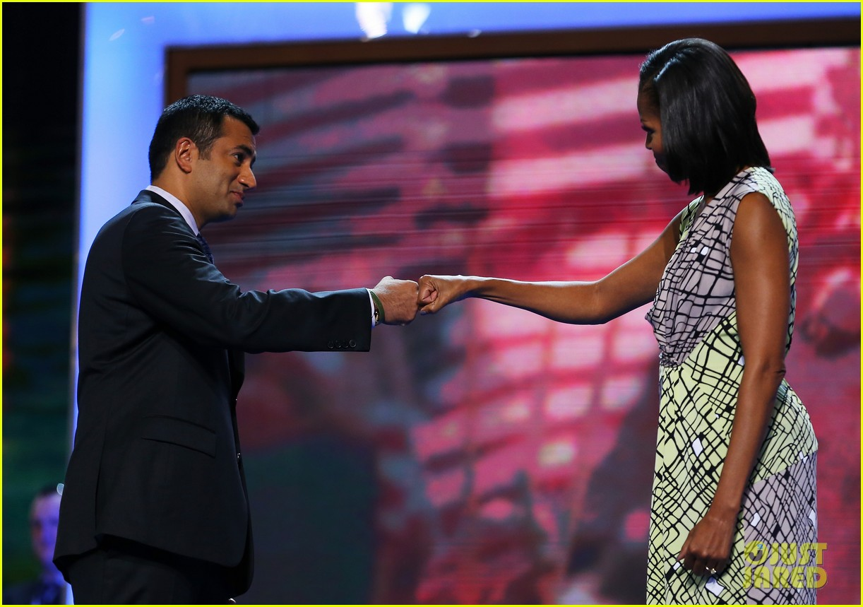 michelle obama preps democratic national convention in charlotte kal penn 09