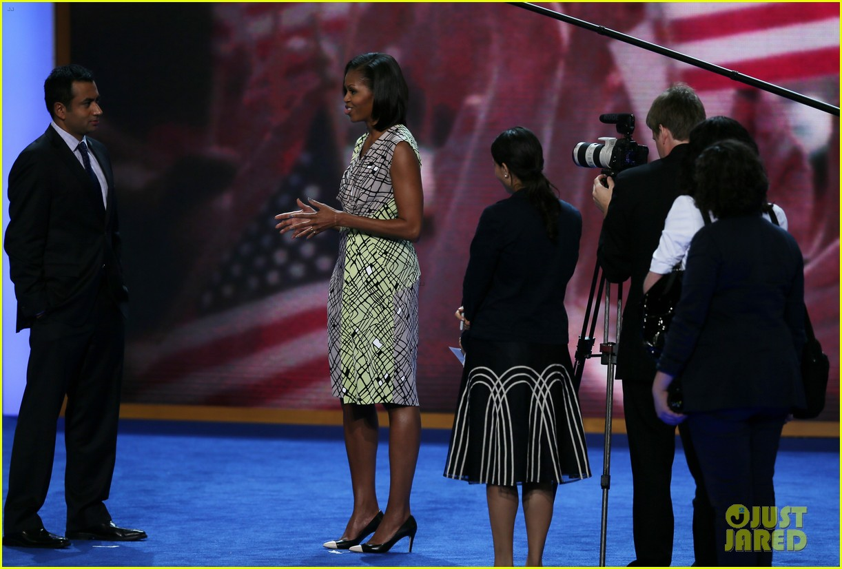 michelle obama preps democratic national convention in charlotte kal penn 10