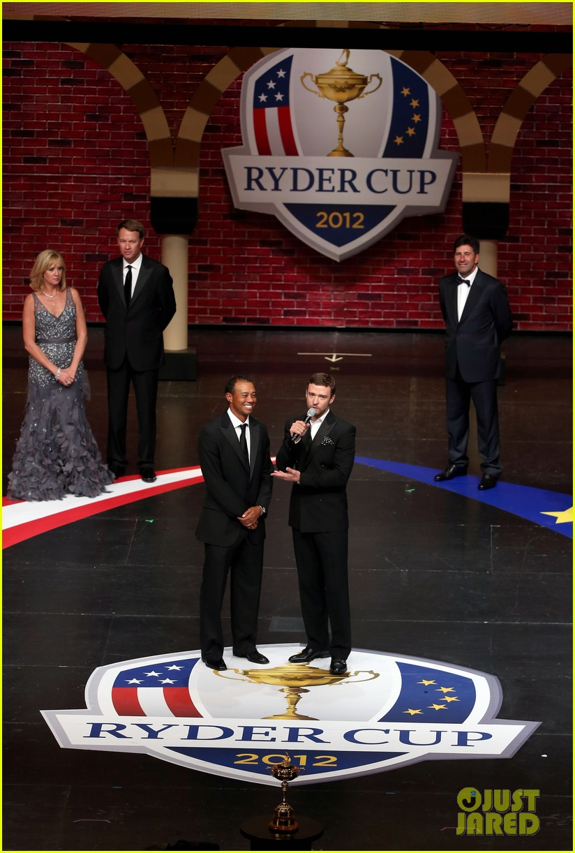 justin timberlake ryder cup gala with tiger woods 13
