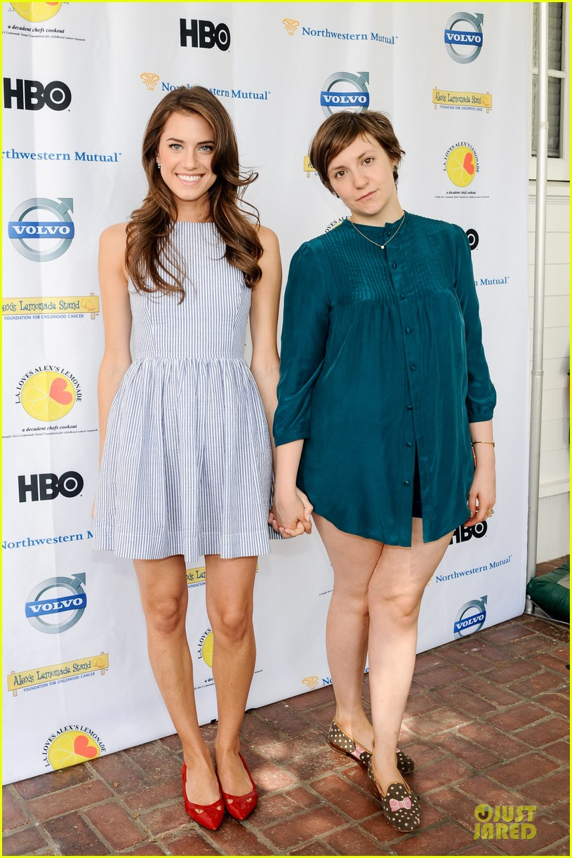 allison williams lena dunham la loves alexs lemonade charity event 05