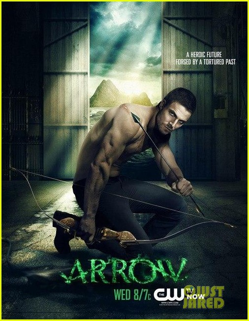stephen amell new shirtless arrow posters 04