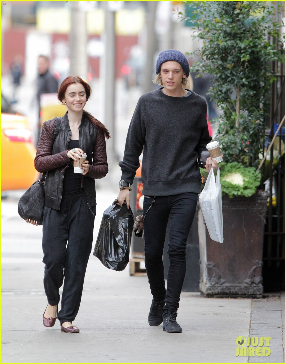 lily collins morning coffee jamie campbell bower 02