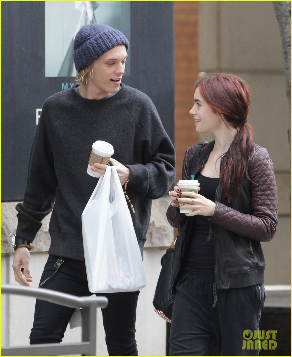 lily collins morning coffee jamie campbell bower 04