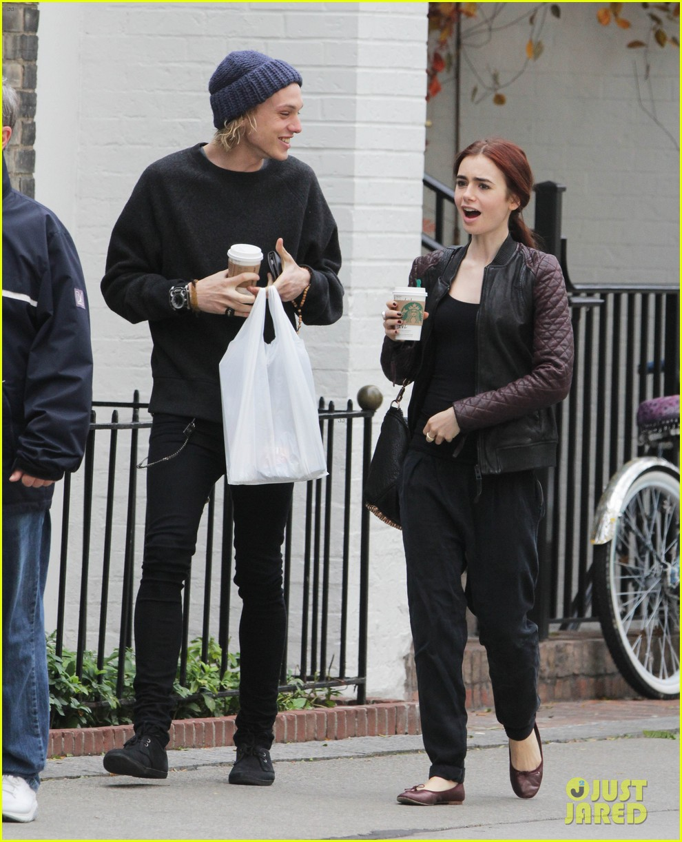 lily collins morning coffee jamie campbell bower 06