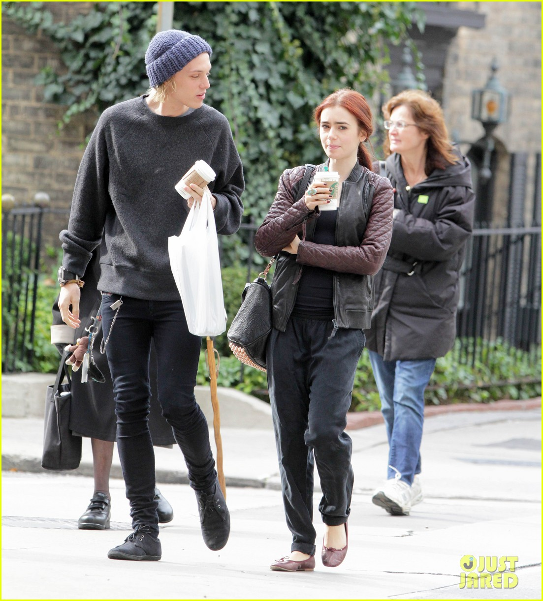 lily collins morning coffee jamie campbell bower 12