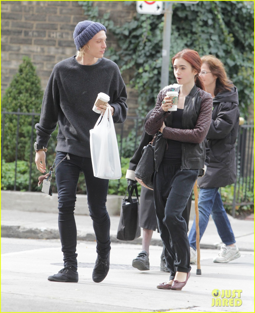 lily collins morning coffee jamie campbell bower 15