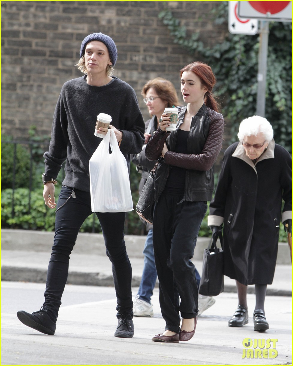 lily collins morning coffee jamie campbell bower 172742646