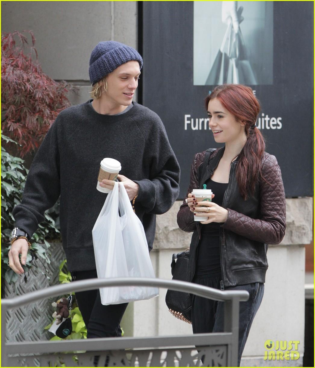 lily collins morning coffee jamie campbell bower 212742650