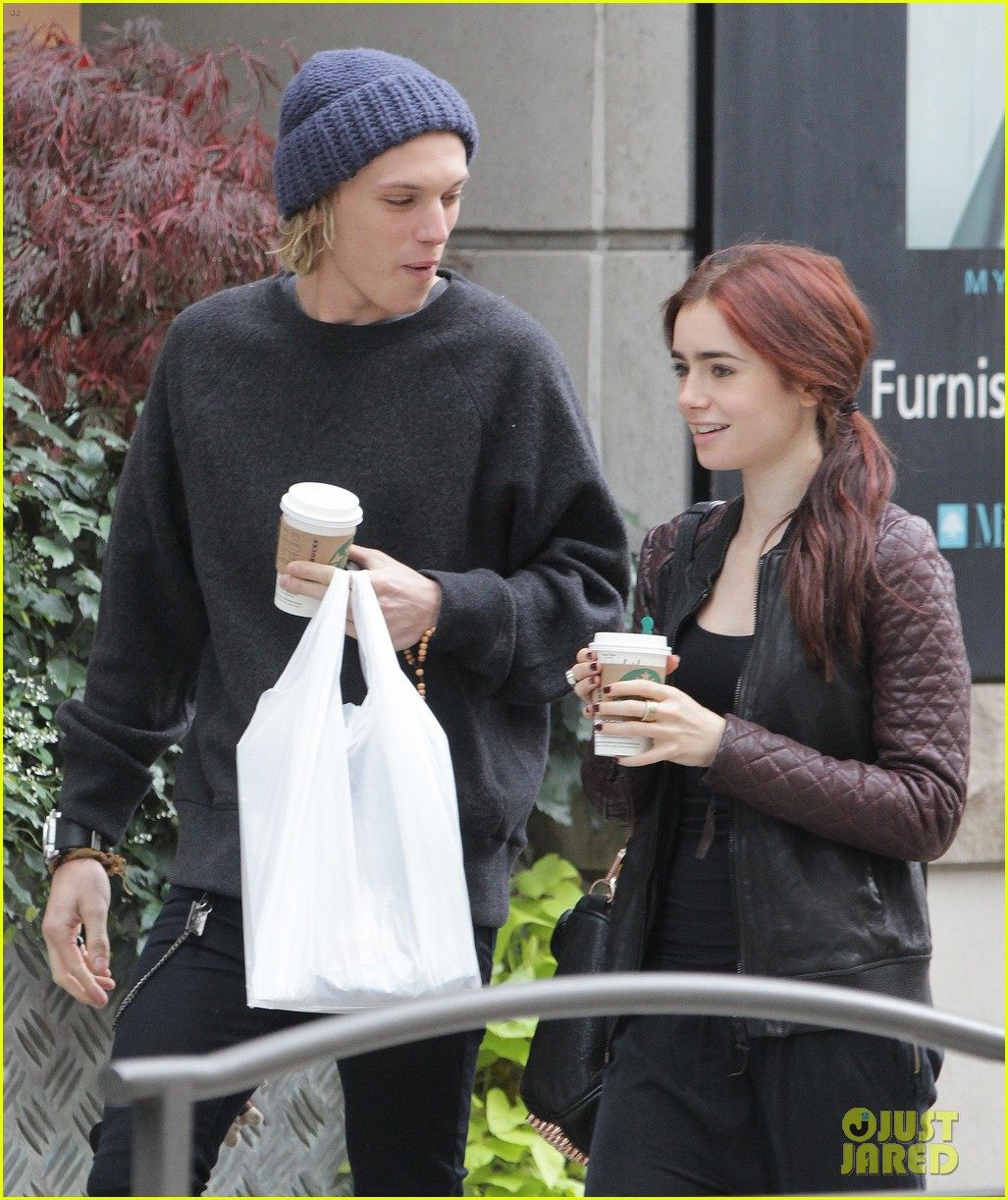lily collins morning coffee jamie campbell bower 23