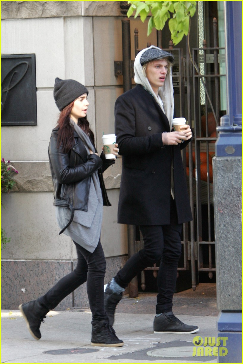 lily collins jamie campbell bower toronto twosome 01