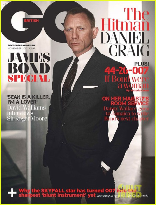 daniel craig covers british gq james bond special issue 01
